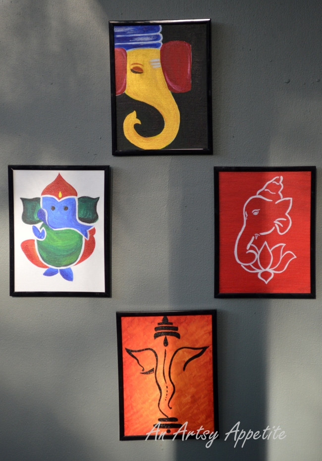 Ganesha Canvas Painting Series