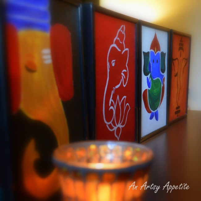 Ganesha Canvas Painting Seri