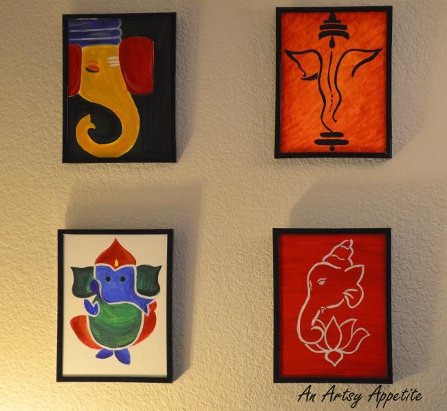 Ganesha Canvas Painting Series