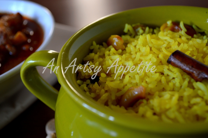 Mishti Pulao or Sweet Rice Pilaf with whole spices