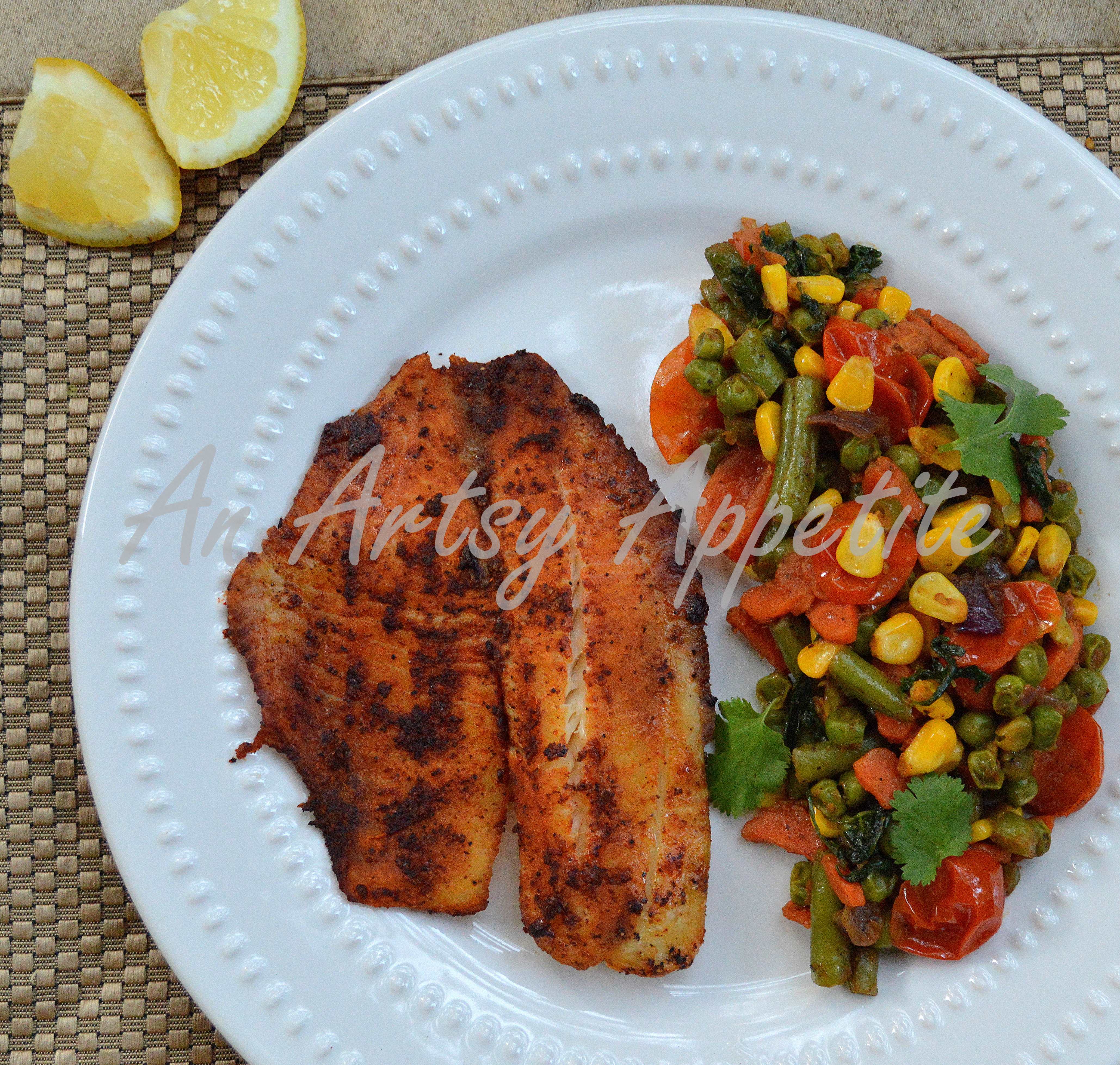 Baked fish and vegetable medley an easy dinner plate for Fish and vegetable recipes