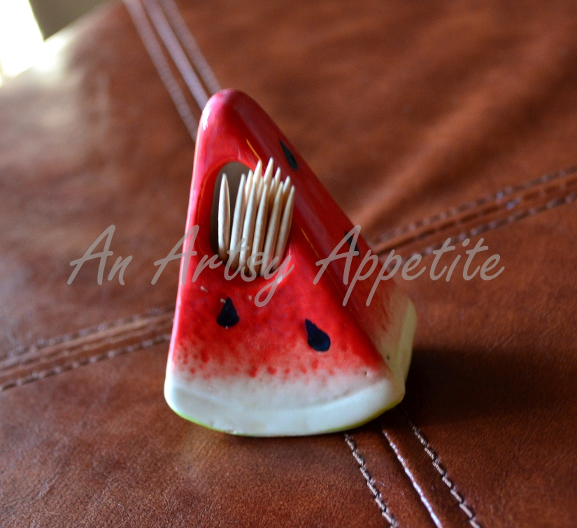Watermelon toothpick holder