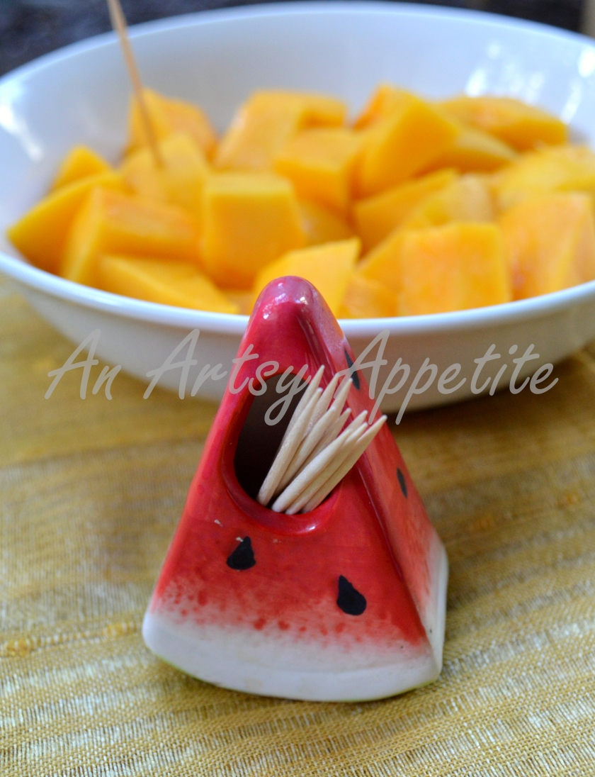 Mangoes and Watermelon toothpick holder