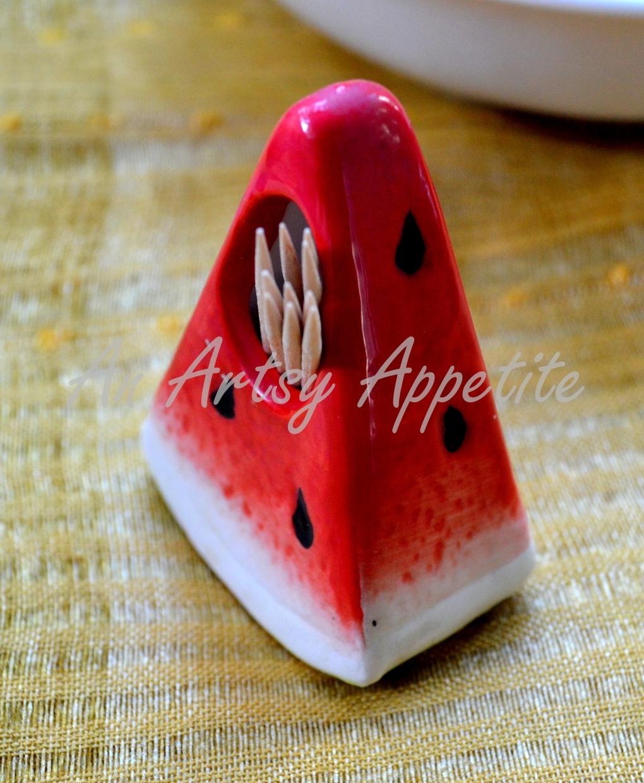 Watermelon toothpick holder