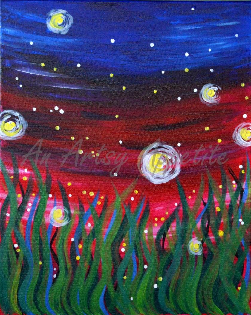 Fireflies Paintings - Paint Nite San Jose