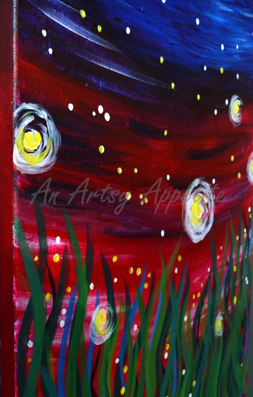 Fireflies Painting - Paint Nite San Jose