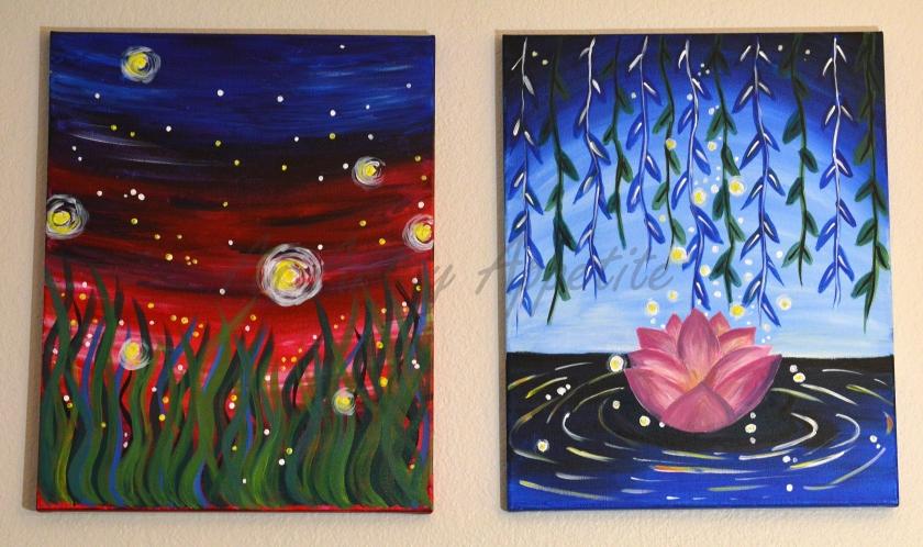 Paint Nite Paintings ~ Acrylic on Canvas