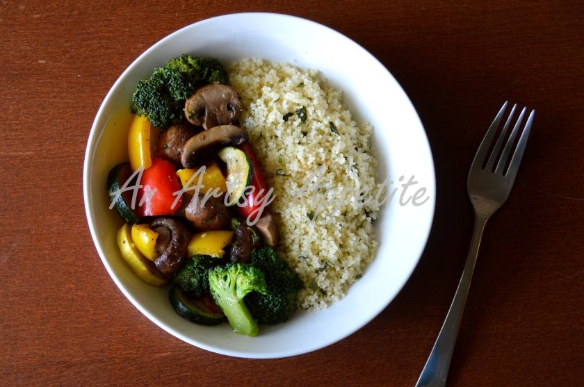 Herb-ed Couscous and Stir Fried Vegetables Recipe