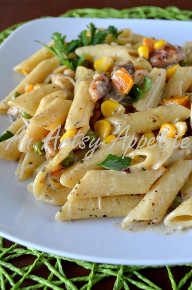 Chicken Penne Pasta with Parmigiano Reggiano