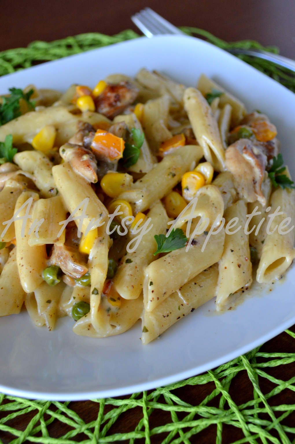 Chicken Penne Pasta with Parmigiano Reggiano