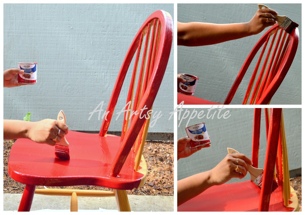DIY Painted Chair as Plant Stand How To.