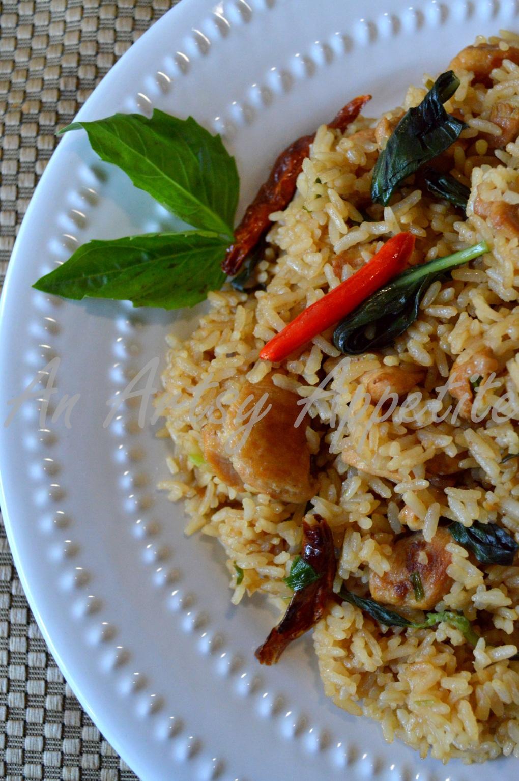 Thai Basil Fried Rice I Khao Pad Horapa Recipe