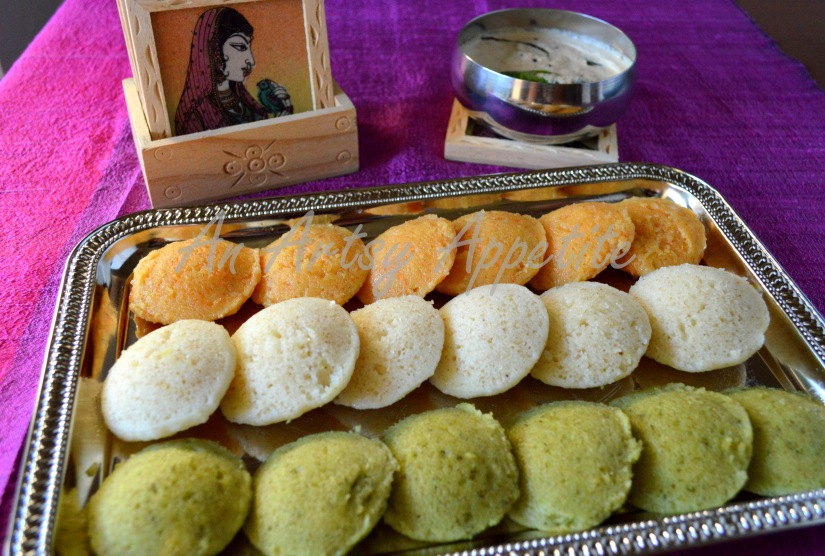 Rava Idli, savory semolina cakes