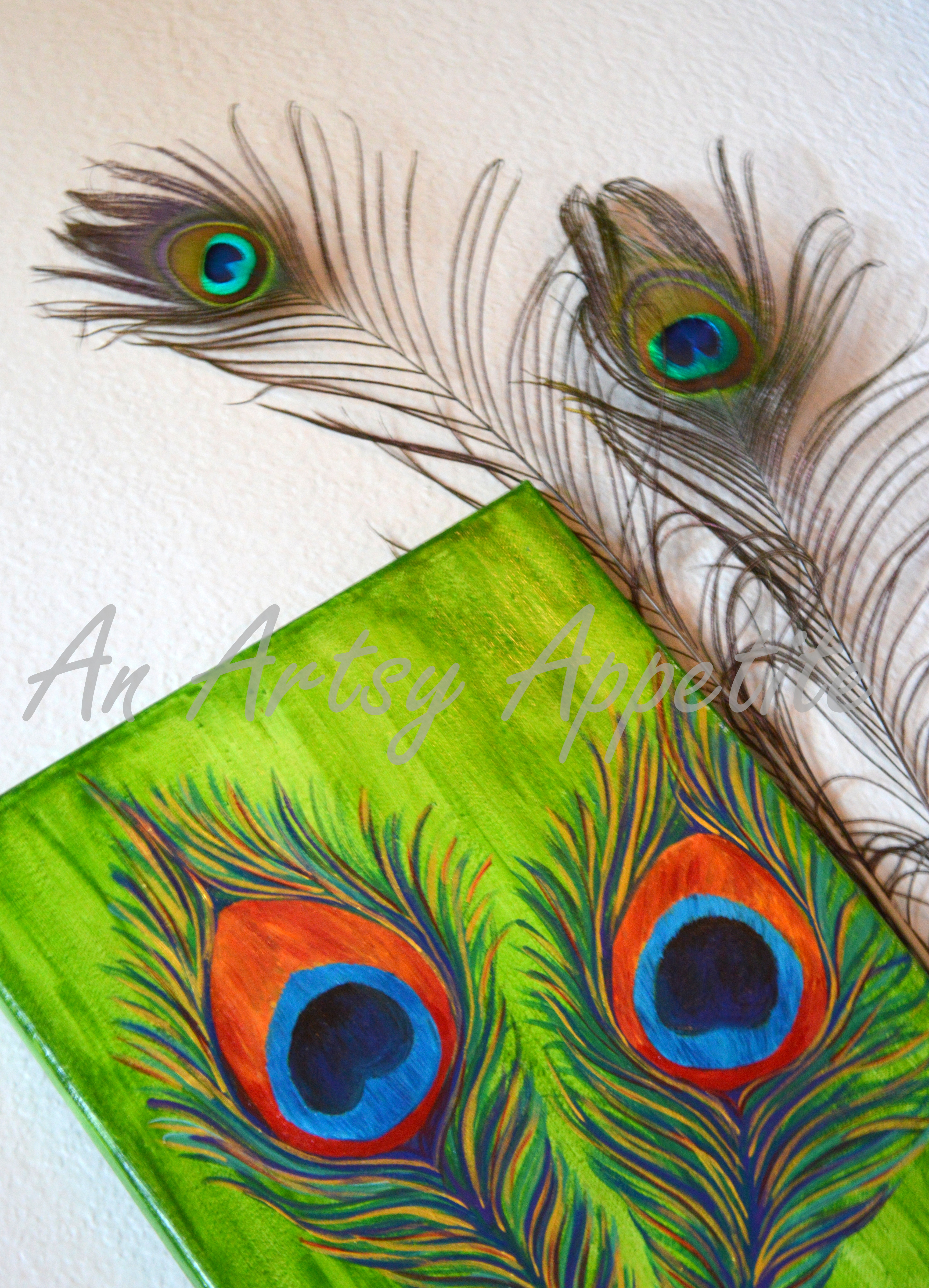 Peacock feather paintings - photo#46