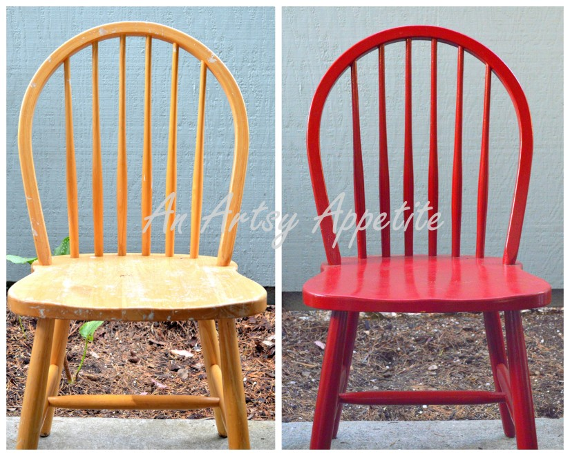 DIY Painted Chair as Plant Stand How To tutorial