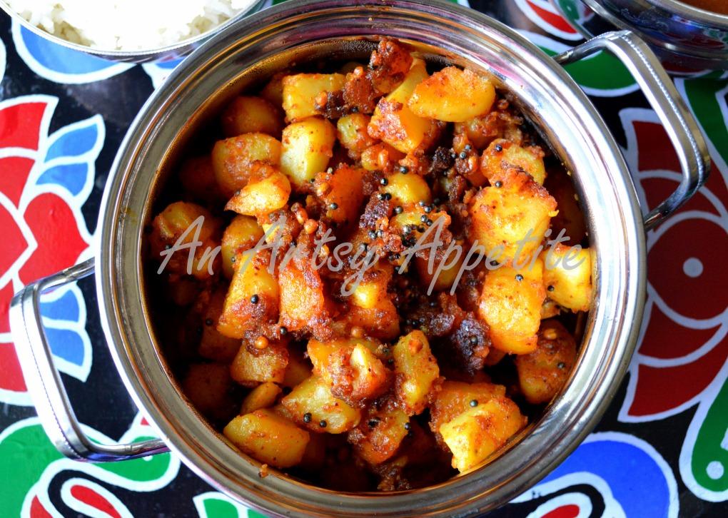 how to make potato fry kerala style
