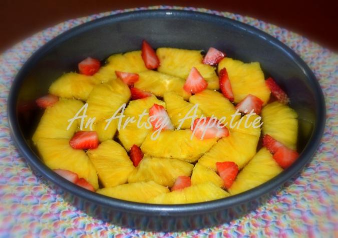 Dark Caramel Pineapple Upside Down Cake Recipe