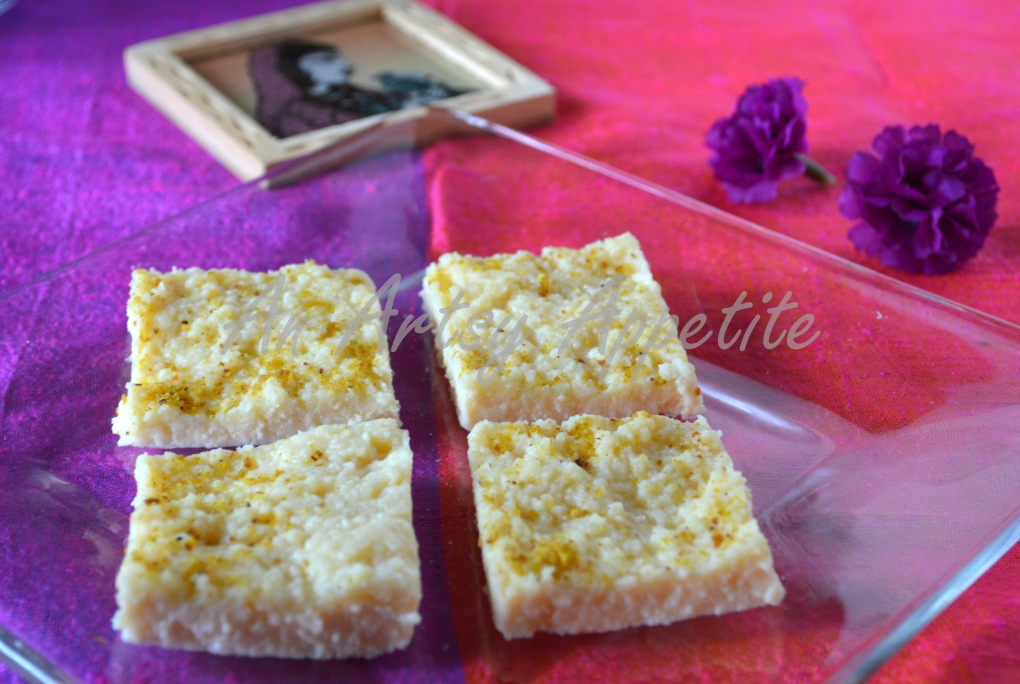 Kalakand ~ Indian dairy-based dessert recipe