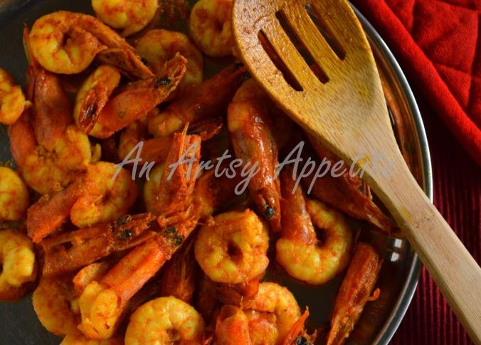 Shrimp Potato and Cauliflower Curry ~ Phulkopi Chingri Recipe