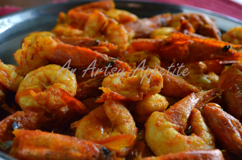 Shrimp Potato and Cauliflower Curry ~ Phulkopi Chingri Recipe