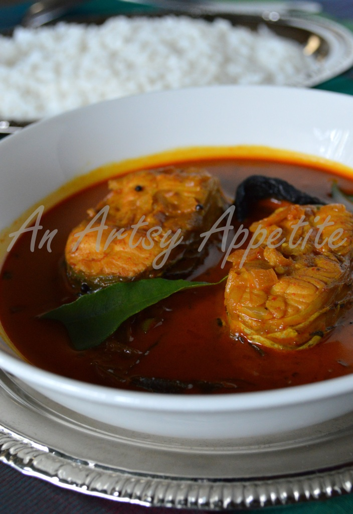 Kerala Fish curry recipe steamed rice