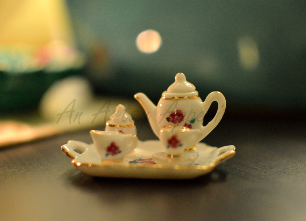 Littl eDanish tea set from Solvang, CA, photography nikon lens