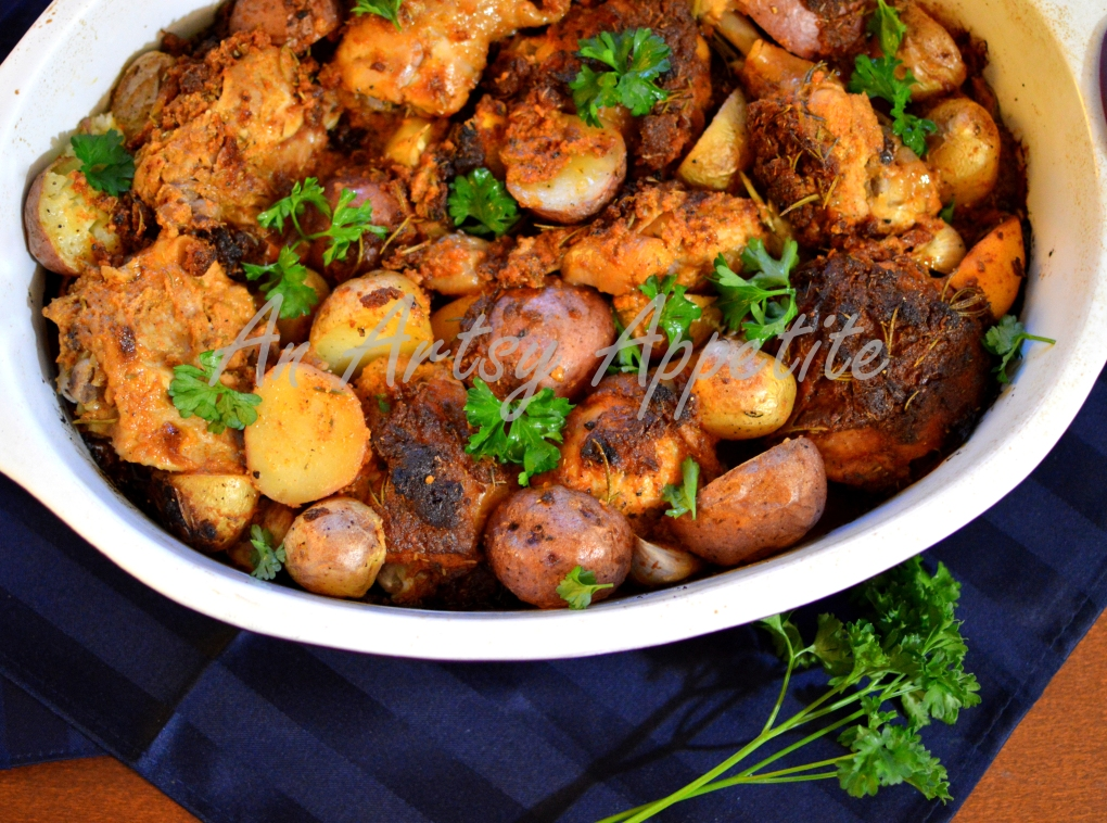 Chicken and Potato Herb Roast Recipe, Laura Vitale
