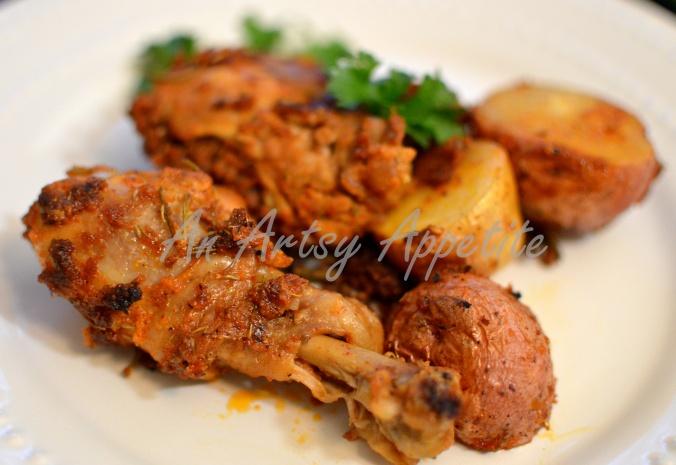Chicken and Potato Herb Roast Recipe, Laura Vitale
