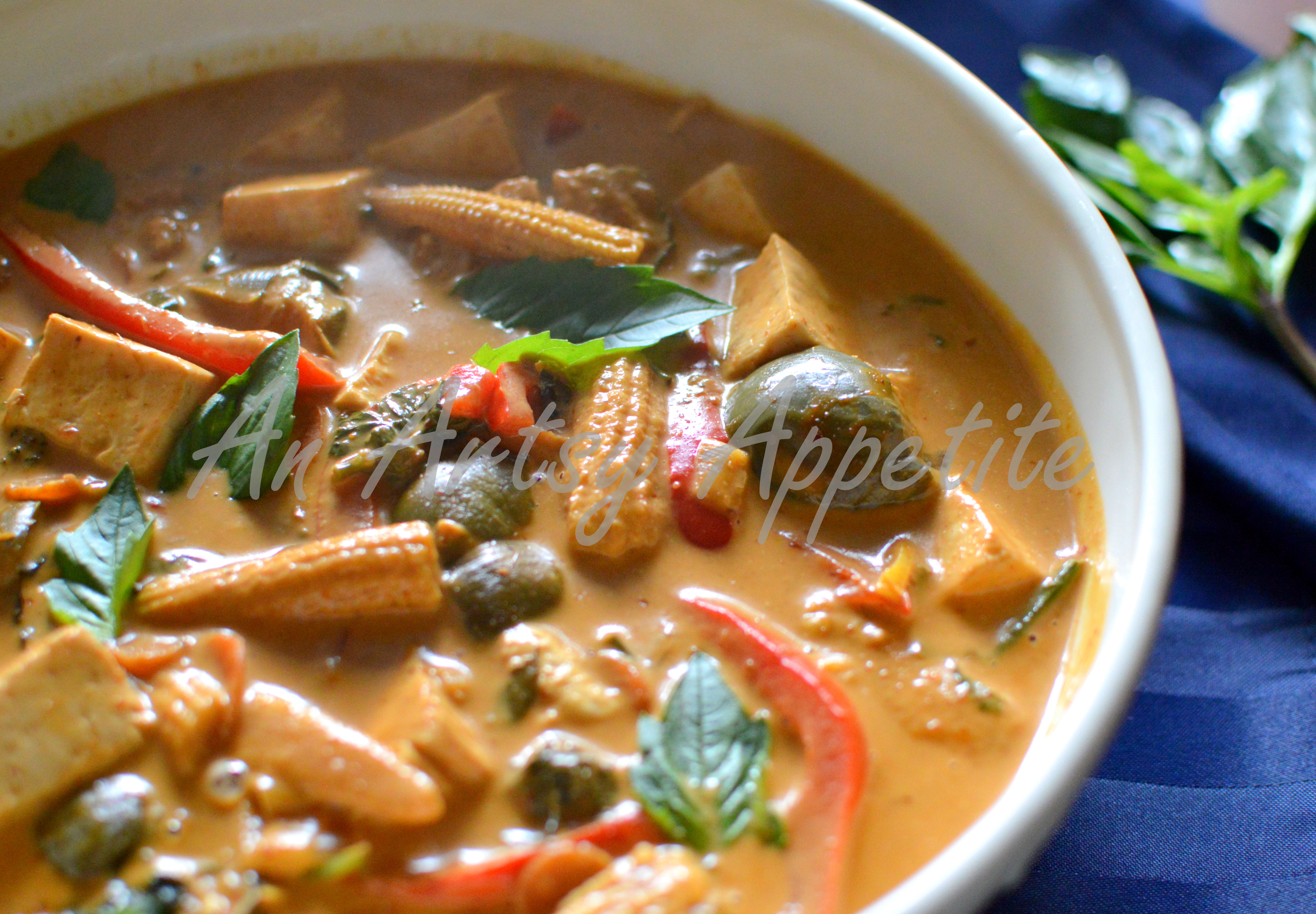 Thai red curry recipe vegetarian an artsy appetite for Best thai red curry