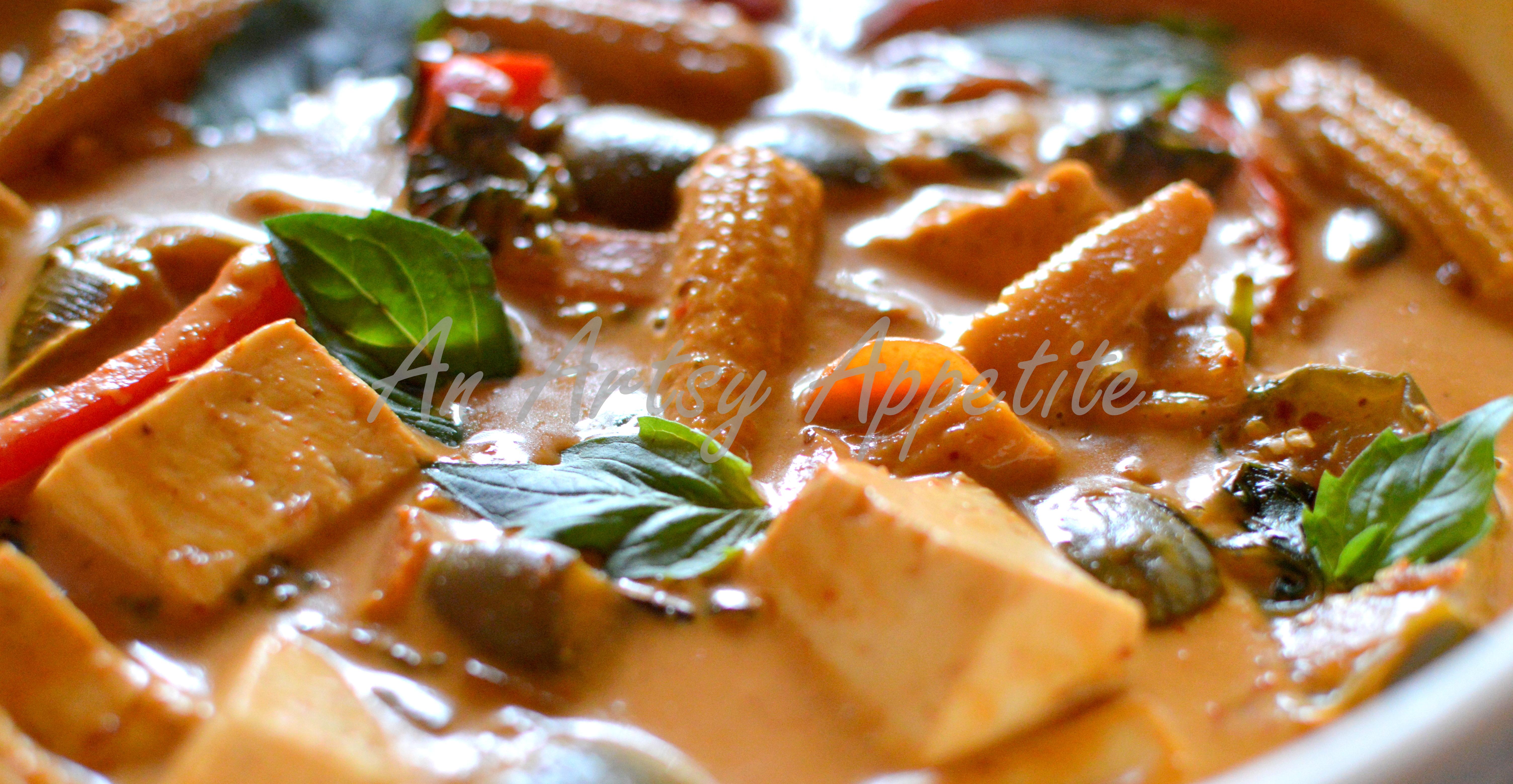 Thai red curry recipe vegetarian an artsy appetite thai red curry vegetarian recipe forumfinder Choice Image