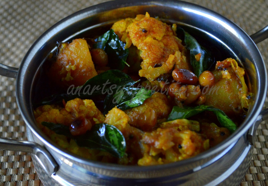 Aloo Gobi Recipe (south indian style)