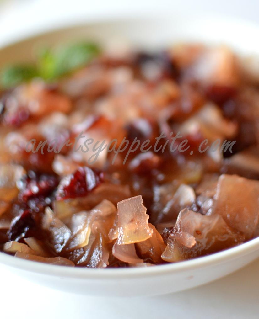 Green Papaya Relish with Cranberries Recipe