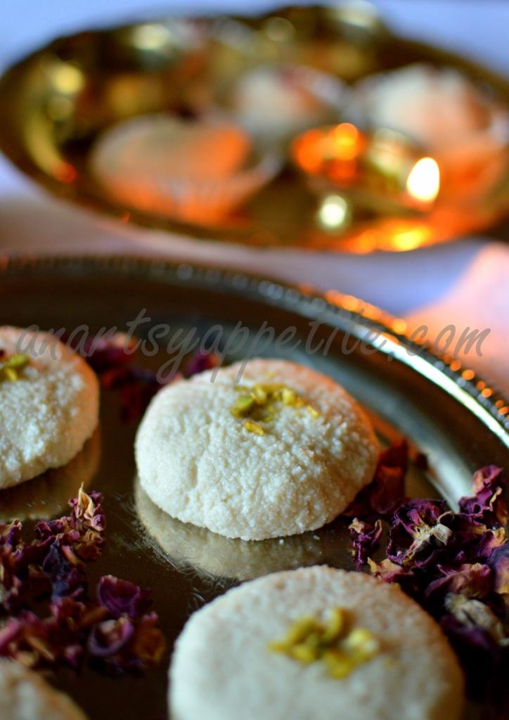 Rose Sondesh, Sandesh, Rose Mithai for Diwali festival