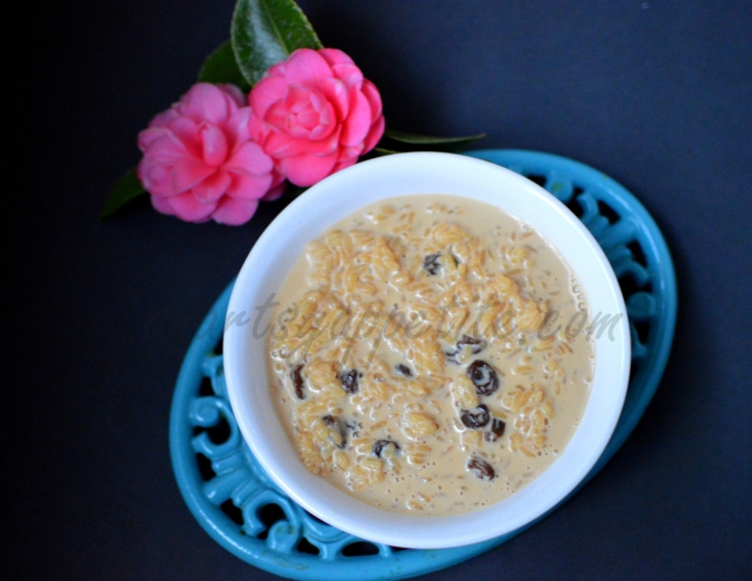 Nolen Gurer Paayesh or Rice Pudding recipe
