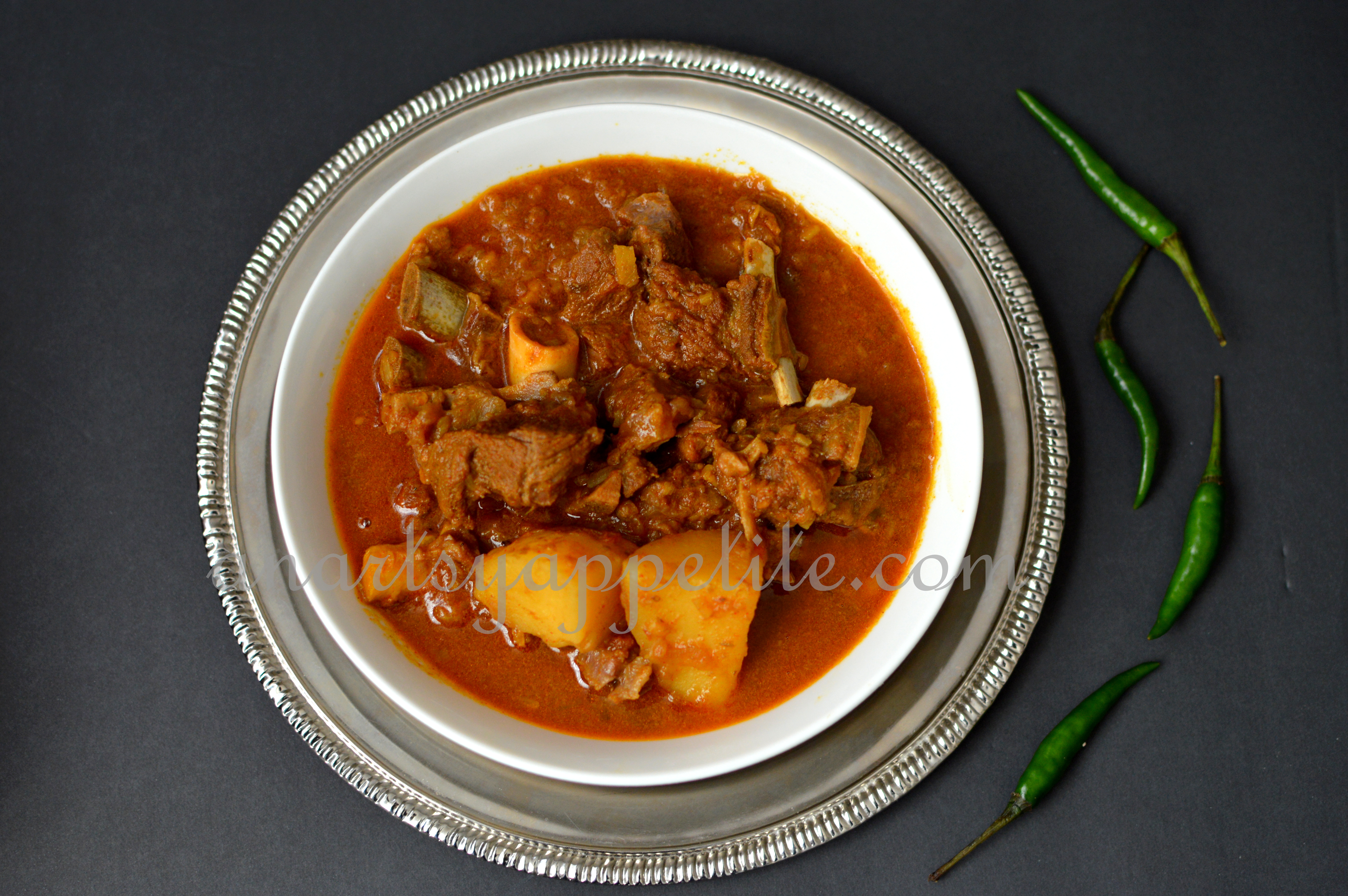 Indian bengali food recipe an artsy appetite engali goat meat mutton stew recipe forumfinder Image collections