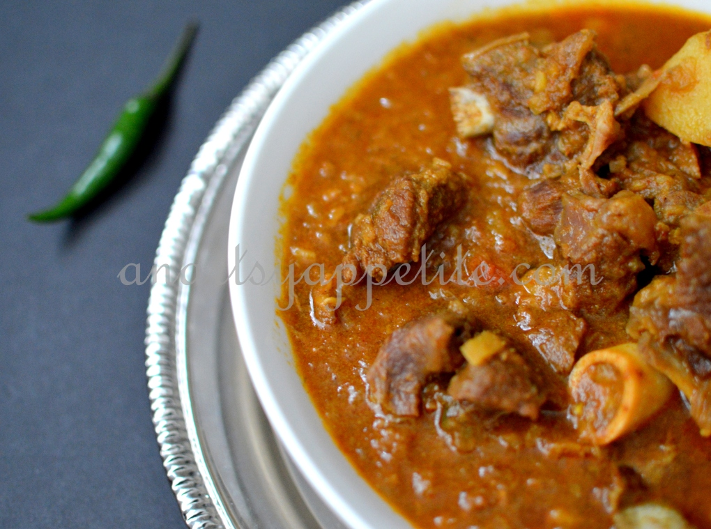 engali goat meat mutton stew recipe