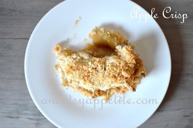 Easy Apple Crisp Recipe and Fall Weather pictures in California