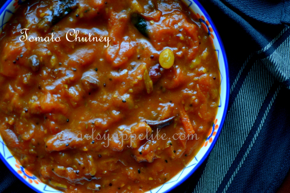 Tomato Khejur-er Chutney Recipe, Bengali Tomato Dates Raisin Chutney, Indian Chutney Recipe